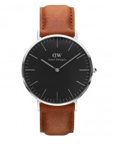 Daniel Wellington DW00100132 Classic Black 40mm Durham zilver