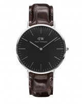 Daniel Wellington DW00100134 Classic Black 40mm York zilver