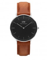 Daniel Wellington DW00100144 Classic Black 36mm Durham zilver