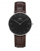 Daniel Wellington DW00100146 Classic Black 36mm York zilver