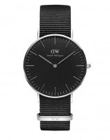 Daniel Wellington DW00100151 Classic Black 36mm Cornwall zilver